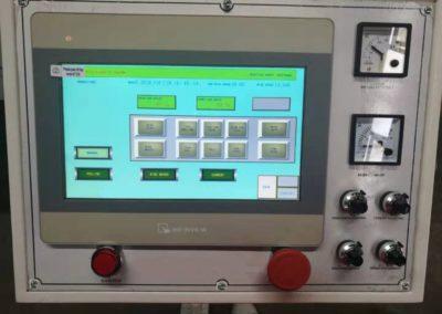 Automatic pail welder control pannel