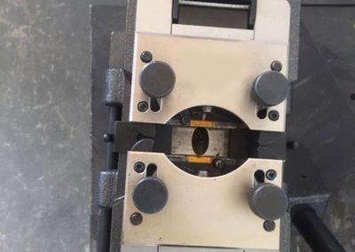 cold pressure welder close up