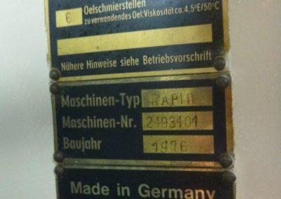 Lanico Rapid serial number plate