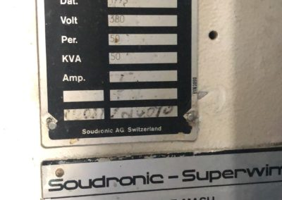 soudronic welder name plate